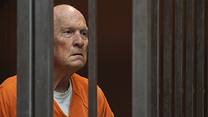 Joseph James DeAngelo in jail. The former police officer is accused of being the Golden State Killer, suspected in at least a dozen killings and roughly 50 rapes in the 1970s and '80s.
